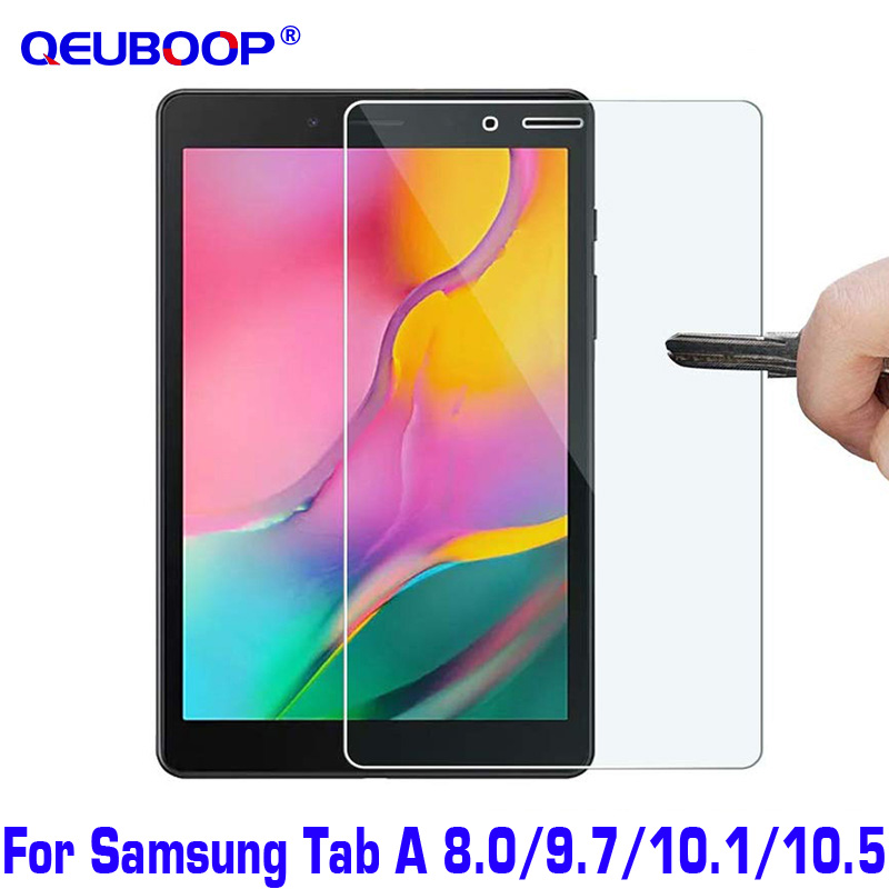 Tablet Screen Protector For Samsung Galaxy Tab A 8.0 9.7 10.1 10.5 Inch Tempered Glass Protective Guard SM-P200 T590 T510 2019