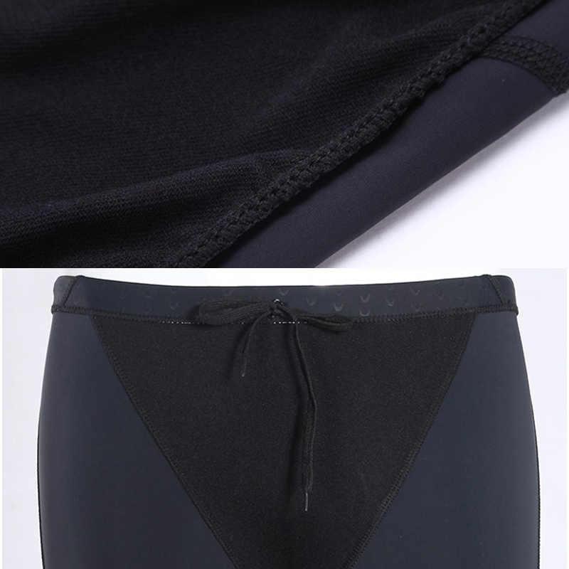 SW-08M Panas Bagus Pria Renang Baju Renang Berenang Celana Pendek Kompetisi Imitasi Kulit Hiu Baju Renang