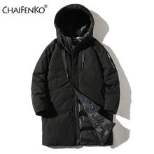CHAIFENKO Winter Thick Warm Hooded Long Jacket Parkas Coat Men Autumn New Fashion Streetwear Parka Men Windproof Casual Coat Men