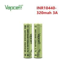 Pilhas superiores lisas da bateria recarregável da descarga do teste de vapcell 100% originai inr 10440 320mah 3a max hkj para baterias da lanterna elétrica