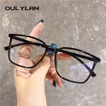 Transparent Glasses Frames Spectacles Vintage Women Black Oulylan