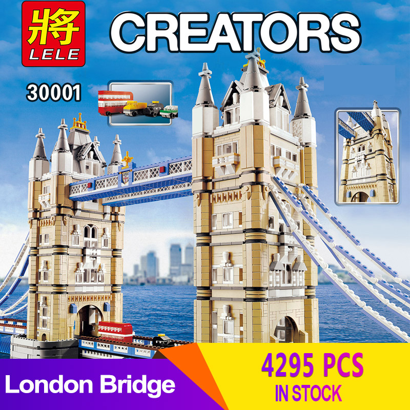 LELE 30001 Compatible Creator London Bridge Expert Tower Figure Building Blocks Bricks city 10214 DIY Toys series(China)