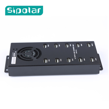 Sipolar 10 Port USB Charger Hub usb 2.0 data hub Standard 12V 10A Power adapter for cryptocurrency miners a-400