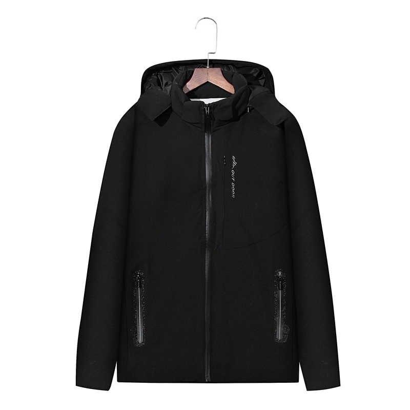 Xfwhx 새로운 빅 사이즈 8xl 7xl 남성 겨울 자켓 따뜻한 남성 코트 패션 두꺼운 열 남성 파커 캐주얼 남성 브랜드 의류