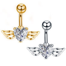 1 шт пикантные Сталь пупка кольца с украшением в виде кристаллов