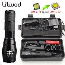 LED Aufladbare Taschenlampe Litwod XML T6 5 modus zoom linterna taschenlampe 5000 LM 18650 Batterie Outdoor Camping Leistungsstarke Taschenlampe