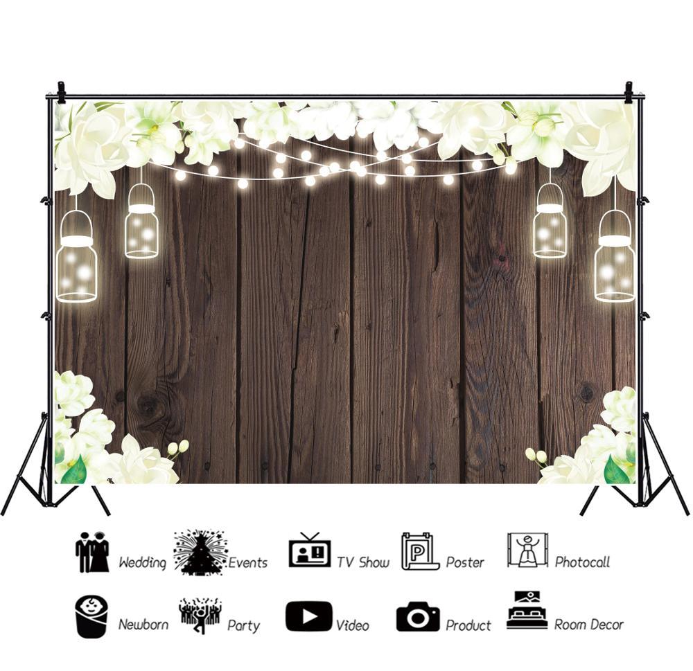 Виниловый фон для фотосъемки новорожденных с изображением деревянных
