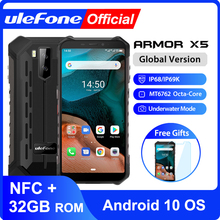 Ulefone Armor X5  Android 10 Rugged Waterproof  Smartphone IP68 MT6762 Cell Phone 3GB 32GB Octa core NFC  4G LTE Mobile Phone