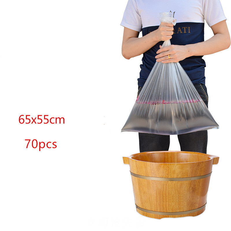 70pcs Foot Care Tool Disposable Foot Tub Liners Bath Basin Bags For Feet Pedicure Foot Detox SPA Heat Preservation Accessories