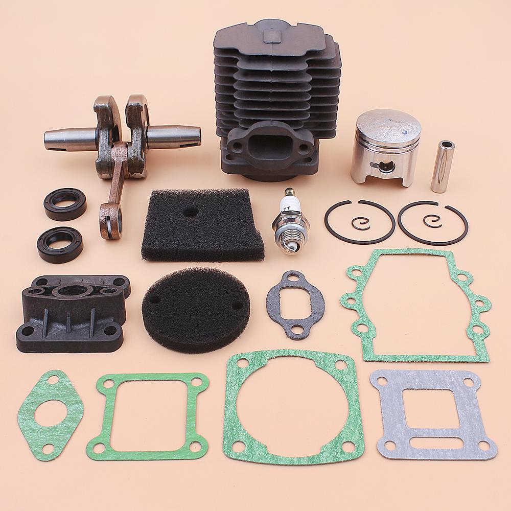 40mm Cylinder Crankshaft Piston Kit For Robin NB411 EC04 CG411 Intake Manifold Oil Seal Gasket Spark Plug Set