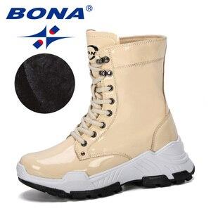 Image 5 - BONA 2019 nowi projektanci ciepła platforma kobieta śnieg buty pluszowe kobiece trampki Outdoor Snowboots ciepłe buty buty damskie