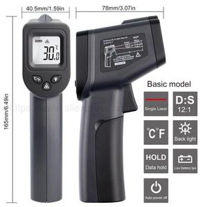 Image 4 - Digital Infrared Thermometer  50~380/550/750/1100/1300/1600 degree Single/Double laser Non Contact Thermometer Gun thermometer