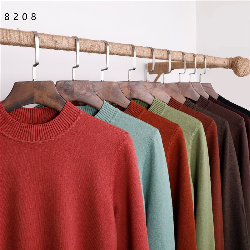 2019 New Autumn And Winter Men's Sweater Men's Round Neck Knit Sweaters Solid Color Casual Slim Sweater Men's Brand Pullovers
