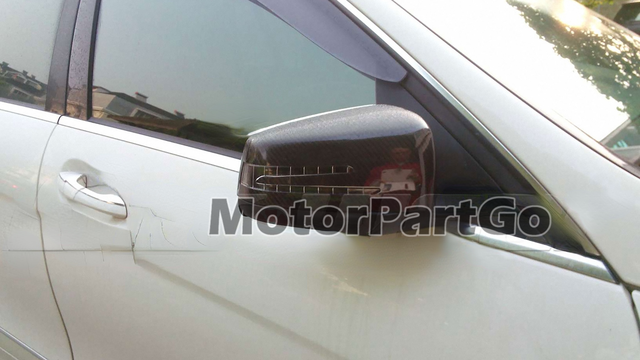 Real Crabon Fiber Mirror Cover Exchange original 1 pair for Mercedes Benz W204 2007-2014 4