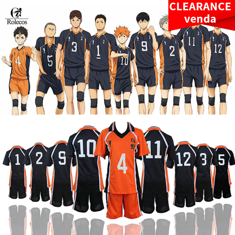 ROLECOS Haikyuu Cosplay Costume Karasuno High School Volleyball Club Hinata Shyouyou Sportswear Jerseys Uniform