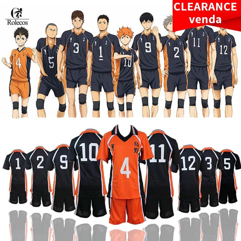 ROLECOS Haikyuu Cosplay Costume Karasuno High School Volleyball Club Hinata Shyouyou Sportswear Jerseys Uniform