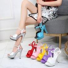 Босоножки на высоком каблуке 13 см; женские пикантные босоножки