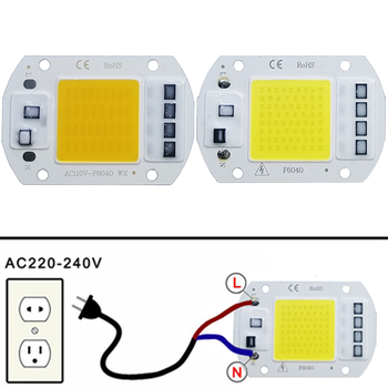 COB LED lamp Bead Chip AC 220V LED Bulb 10W 20W 30W 50W IP65 High Power Smart IC DIY Flood light Bulb Spotlight Outdoor Chip цена 2017