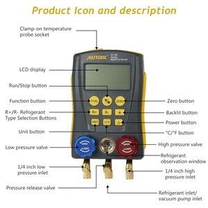 Image 4 - AUTOOL – Kit de collecteur de fuite de réfrigérant pour climatiseur, HVAC, testeur de température à pression sous vide, jauge numérique