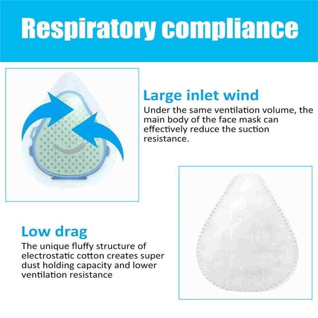 1PC S8 Dust Mask Anti Dust Flu Mask Fumes Filter Safety Face Protection Self Higher With 2 Filters 3