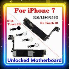 Iphone 7マザーボードなしでタッチid、iphone7ため携帯メインボード4グラムサポート32ギガバイト/128ギガバイト/256ギガバイト