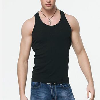 Oversized Men Summer Solid Color Breathable Soft Tank Tops Casual Slim Homme Sleeveless Black White O-neck Vest Tops 2
