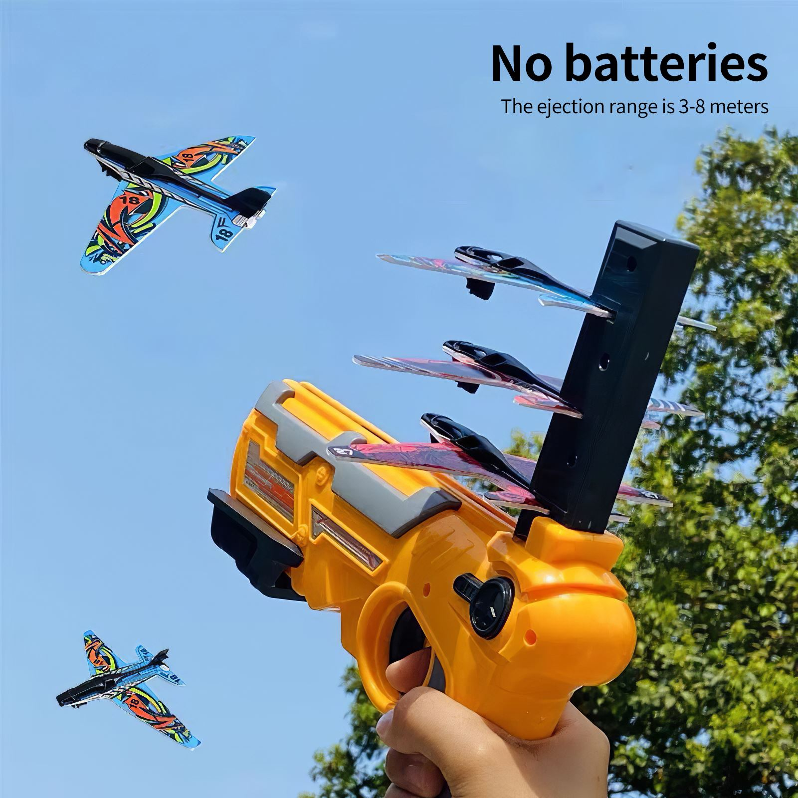 Catapult Plane Foam Air Battle One-Click Ejection Model Launchers Toy Glider Model Outdoors Toys for Children Kid And Adult
