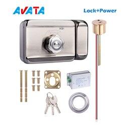Elektroniczny zamek z kluczami i zasilaczem do systemu kontroli dostępu wideodomofon obsługa jednego przycisku odblokuj drzwi