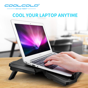 Image 3 - Laptop Cooler Laptop Cooling Pad Notebook Gaming Cooler Stand with Four Fan and 2 USB Ports for 14 17inch Laptop