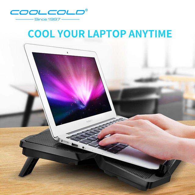 Laptop Cooler Laptop Cooling Pad Notebook Gaming Cooler Stand with Four Fan and 2 USB Ports for 14-17inch Laptop 2