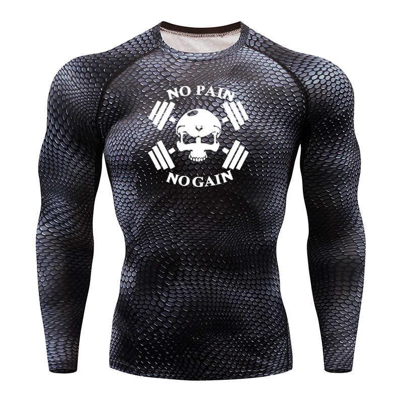 Männer Gorilla Lauf T-shirt Schlange Gym Kleidung Fitness Top Rashguard Fußball Tragen Schnell trocknend Sport Hemd Männer