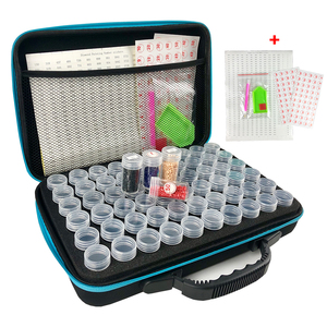 15/30/60/120 Bottles 5d Diamond Painting Accessories tools Storage Box Carry Case diamant painting tools Container Bag