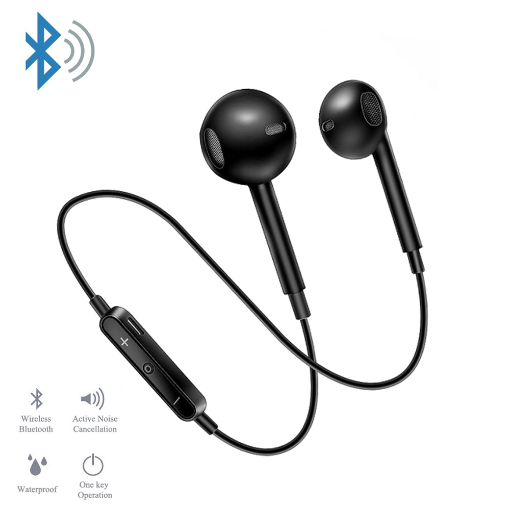 <font><b>S6</b></font> Sport Neckband <font><b>Wireless</b></font> Earphone Music Earbuds Headset Handsfree <font><b>Bluetooth</b></font> Earphone with Mic for All Phone for Samsung Huawei image