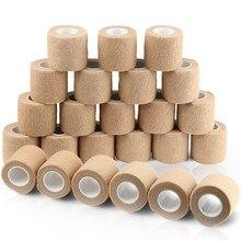 24 rolos auto-adesivo bandagem envoltório coesivo bandagem esportes fita vet envoltório