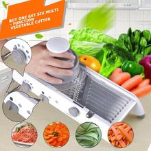 Multifunctional Manual Vegetable Slicer Fruit Potato Cutter Grater Chopper with Adjustable Stainless Steel Blades Kitchen Tool