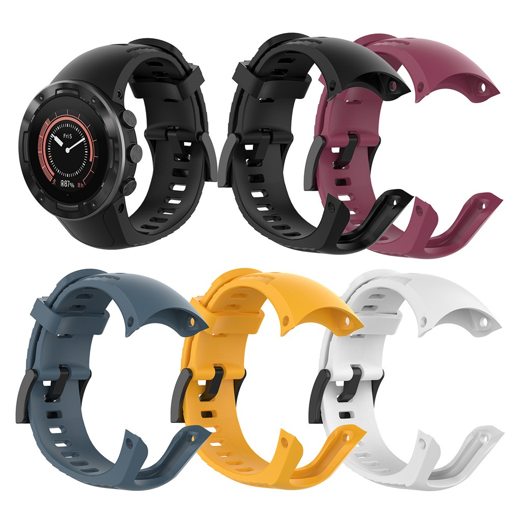 For Suunto 5 Bracelet Strap New Soft Silicone Replacement Watch Band Wrist Strap Compatible For Suunto 5 Smart Accessories FW3