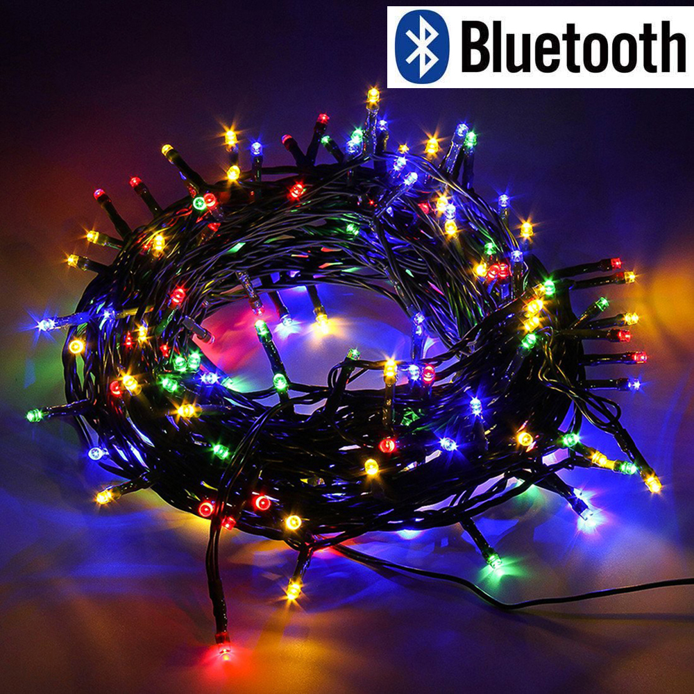 Bluetooth 10M 20M 30M 50M 100M LED Christmas String Lights 31V Low Voltage Outdoor Waterproof Light For Party Wedding Decoration