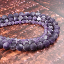 Wholesale Fashion Jewelry Frosted Amethyst 4/6/8/10 / 12mm Suitable For Making Jewelry DIY Bracelet Necklace
