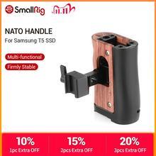 SmallRig NATO ручка для Blackmagic Дизайн Карманный кинотеатр BMPCC 4K 6K клетка для камеры/Samsung T5 SSD деревянная ручка 2270