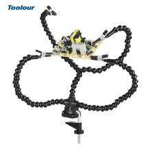 Toolour Table Clamp Soldering Helping Hand Tool Welding PCB Holder Stand for Crafts Hobby Repairing Soldering Third Hand Tool