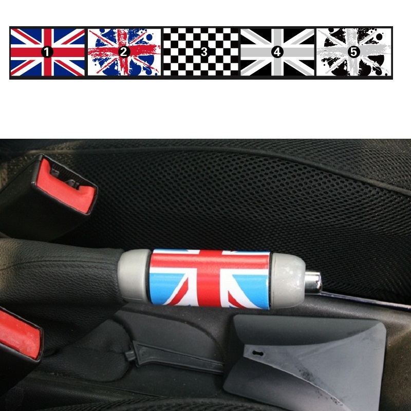 1PCS Union Jack Auto Car Hand Brake DIY Sticker Decal For Mini Cooper One JCW S Clubman Countryman Car-Styling Accessories BP