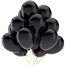 10pcs/lot 12Inch Thick 2.8g Black Latex Balloon Inflatable Air Balls Wedding Decoration Kid Birthday Party Balloon Toys Supplies стоимость