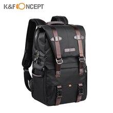 K & F CONCEPT borsa per videocamera zaino per fotografia borsa per obiettivo per Laptop da 15,6 pollici con treppiede per Studio fotografico con copertura antipioggia