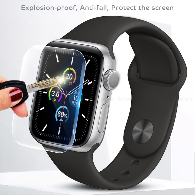 2pcs Screen Protector Clear Full Coverage Protective Film For I Watch 5 40MM 44MM Not Tempered Glass For Apple Watch 5 40 44 MM