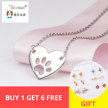 dropship 925 Sterling Silver jewelry Chain Pendant  Necklace Fashion Jewelry Dog Paw Heart Necklaces & Pendants For Fine jewel laptop motherboard for lenovo z570 laptop motherboard ddr3 free shipping 100% test ok