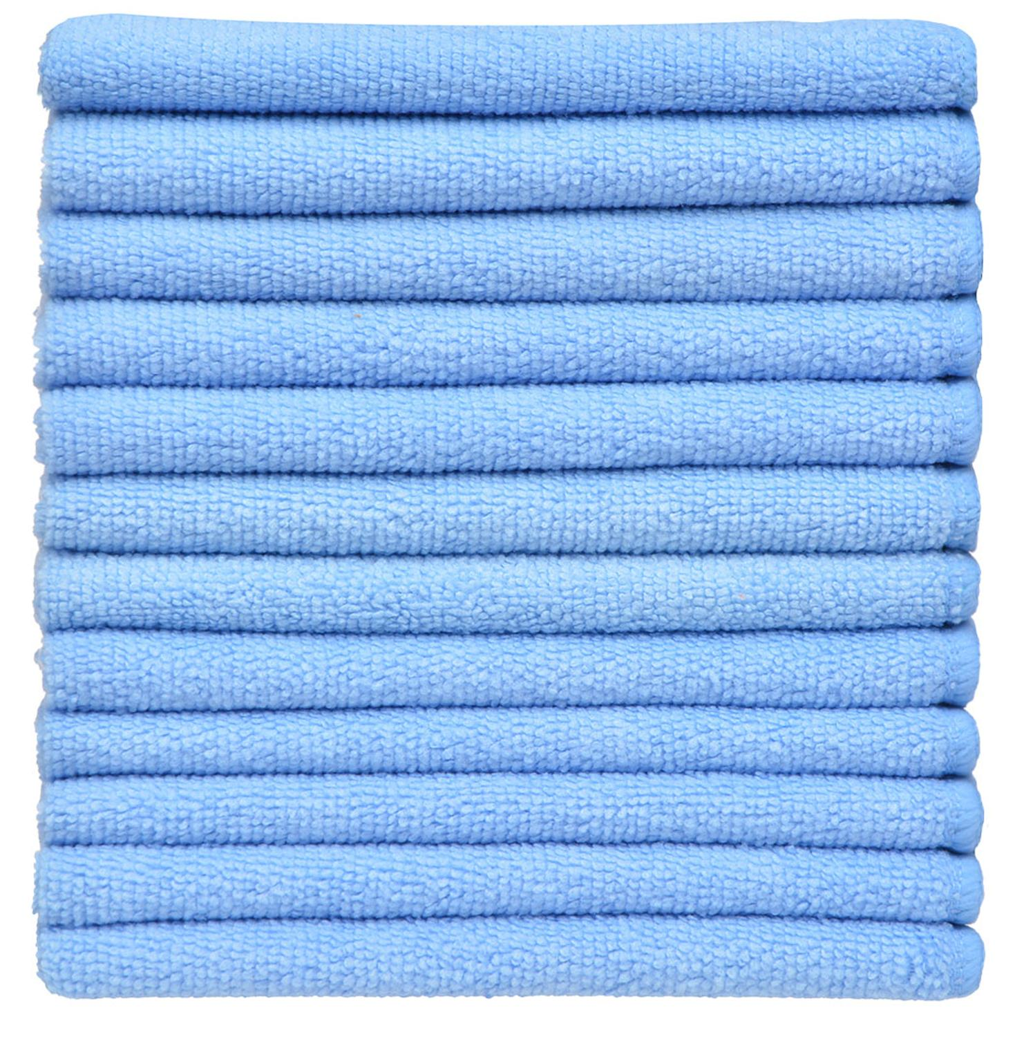 Super Absorbent Household Microfiber Dish Cloth Washing Dishcloths Kitchen Cleaning Rags Quick Dry 16inX16in 40X40cm 10 Pack