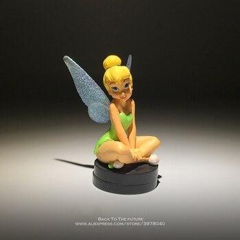 Disney Dzwoneczek księżniczka kreskówki 8cm pozycji siedzącej figurka Anime Mini kolekcja figurka model zabawkowy dla dzieci prezent dla dzieci