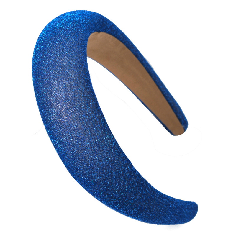 Sequin Fabric Padded Hairbands Hair Accessories Solid Color Tough Sponge Headbands for Women Autumu Sport Hair Band in Women 39 s Hair Accessories from Apparel Accessories