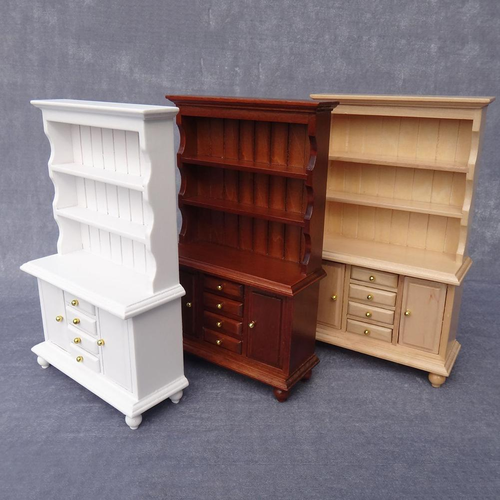 1/12 Miniature Kitchen Cabinet Cupboards With Drawer Dollhouse Furniture Toy Closet Furniture Accessories New
