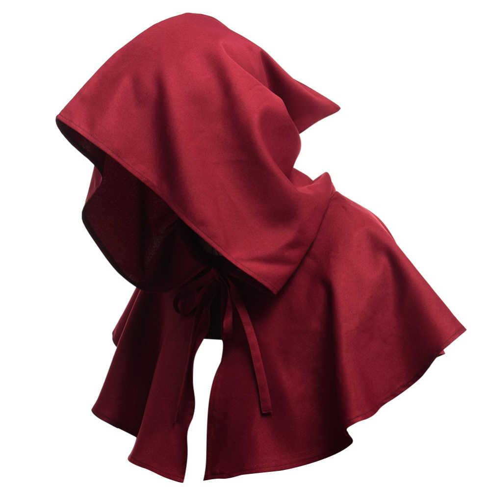 גברים נשים מימי הביניים ברדס כובע רנסנס נזיר ליל כל הקדושים קוספליי סלעית קייפ עבור ליל כל הקדושים
